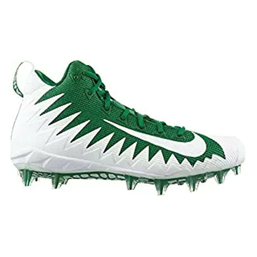 The latest discount shoes for men and women NIKE ALPHA MENACE PRO MID Pine Green White FOOTBALL Cleats NEW