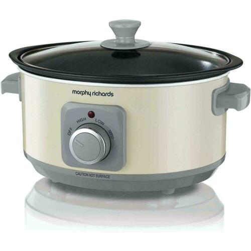 Cream Morphy Richards Slow Cooker Sear and Stew 3.5L Cooking Pot ...