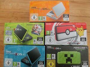 Nintendo-NEW-2ds-XL-Console-BLU-NERO-ARANCIONE-VERDE-POKEMON-OVP