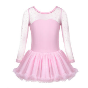 Kids-Girls-Lyrical-Ballet-Dance-Dress-Ballerina-Performing-Dancewear-Gym-Leotard