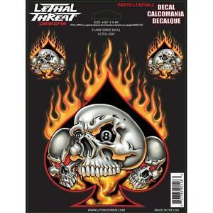 LETHAL THREAT Motorcycle Bike Car Board Decal Helmet Sticker Poker SPADE LT90108