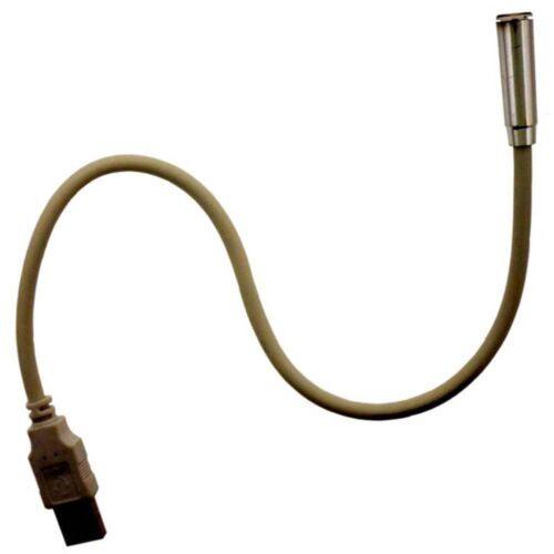 """Portable LED Light For USB Port Pack of 2 PPI 14/"""" Long Flexable Shaft"""
