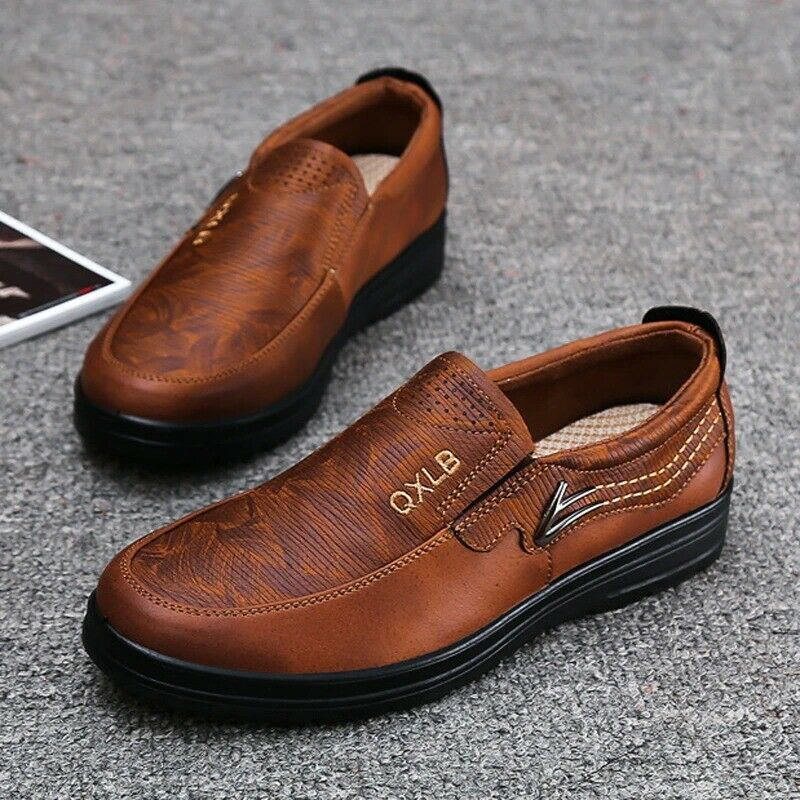 2021 Men Casual Shoes Sneakers Handmade Retro Leisure Loafers Shoes