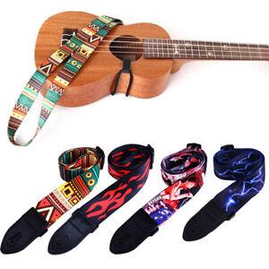 Cinghia-per-chitarra-in-Nylon-Per-Acustico-Elettrico-Chitarra-e-Basso-Cintura-Regolabile-per