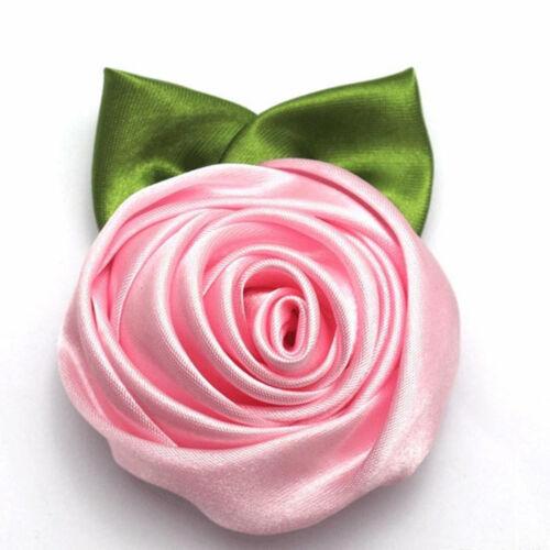 Fashion Rose Fleur Tissu Pince à Cheveux Fleur broches Fête De Mariage Accessoires