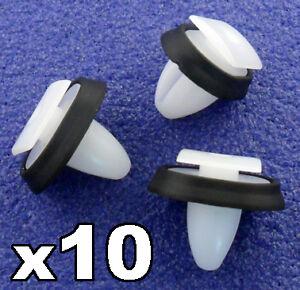 10x CLIPS POUR RENAULT CITROEN PEUGEOT moulure porte corps FIXATIONS PLASTIQUE NOIR