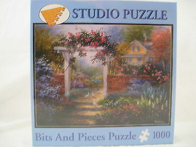 Bits and Pieces Puzzle 1000 pieces Rose Arbor by Nicky Boehme NEW SEALED