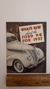 1937-FORD-034-V8-for-1937-034-Original-Part-Color-Catalog-Good-Condition-US