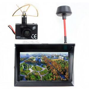 "FX 797T 5.8G Wireless Camera AV TX Transmitter F408 4.3"" Monitor Receiver FPV Ki"