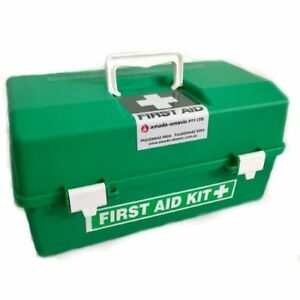 First Aid Kit Large Tackle Box EMPTY GREEN WORK PLACE