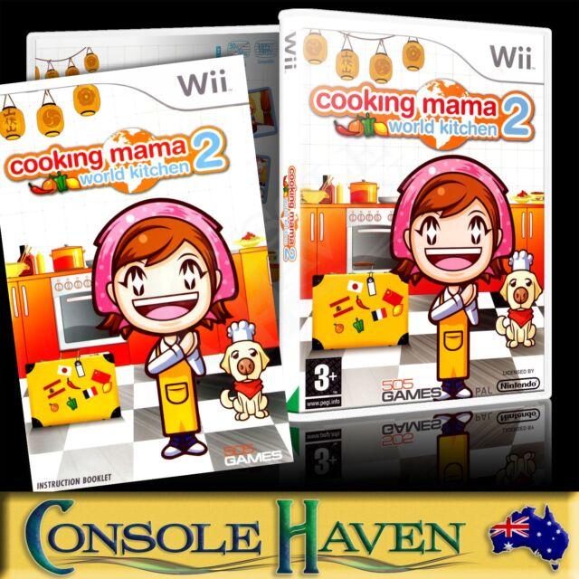 nintendo wii game cooking mama 2 world kitchen original packing