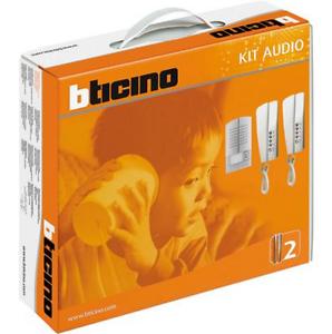 BTICINO 368121 KIT AUDIO 2 FILI BIFAMILIARE CON CITOFONI SWING 2000 METAL
