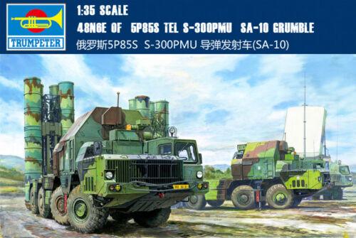 Trumpeter 01038 1//35 48N6E of 5P85S TEL S-300PMU SA-10 GRUMBLE Military Model