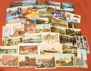 Lot-of-40-Vintage-Postcards-USA-amp-Foreign-Several-Early-20th-Century