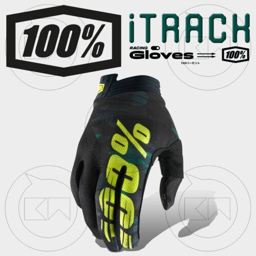 GUANTI 100/% ITRACK MX CAMO CAMOUFLAGE ADULTO MOTOCROSS ENDURO OFF-ROAD ATV MTB