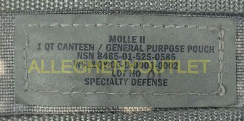 2 Piece Set US Military 1 Quart OD Canteen w// 1 QT MOLLE ACU Cover VGC EXC
