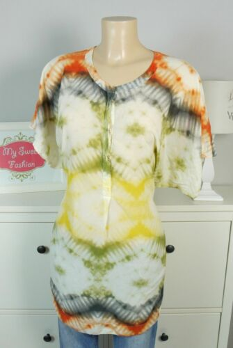 Seide Bluse de Sweden Tunika Long Tiger Batik gr Ethno Of 36 S multicolore 125 q7xwf0B