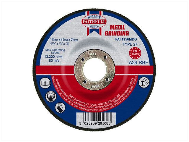 Faithfull GW15016C General Purpose Grinding Wheel 150 x 16mm Coarse Alox