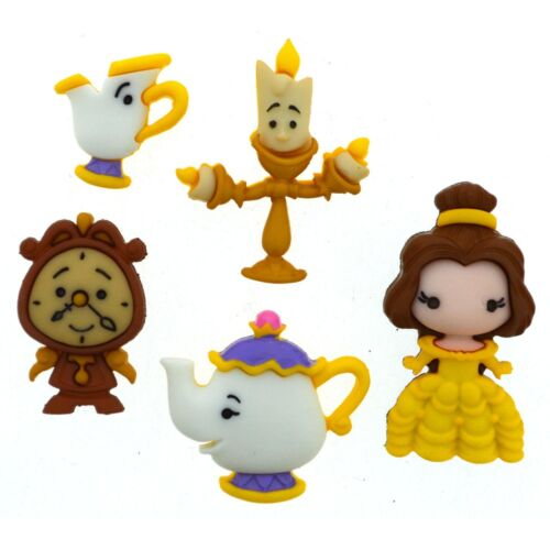 Belle and Friends Disney Princess Disney Beauty and the Beast Buttons