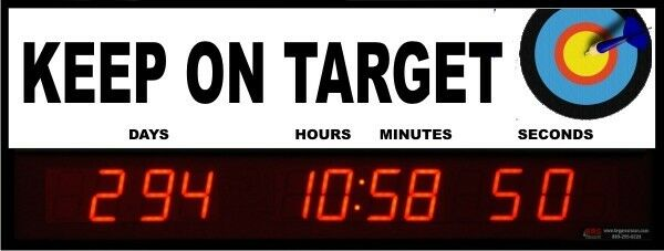 Digital LED Countdown Event Timer - KEEP ON TARGET -  ETCD100-04