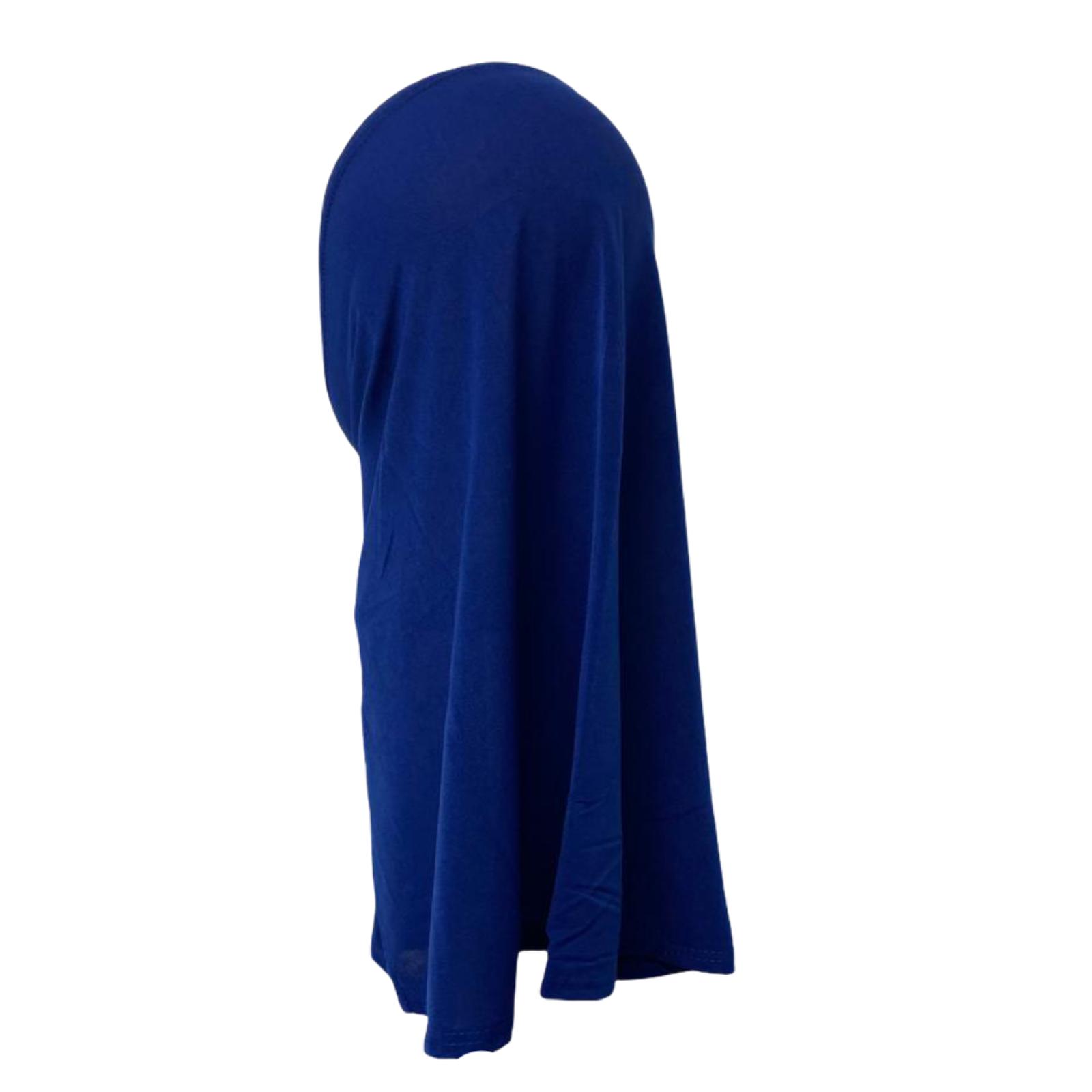One Piece stretchy Hijab Jilbab Scarf School ready made Muslim Black Blue White