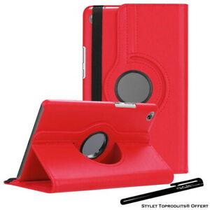 Housse Etui Rouge pour Huawei MediaPad M5 8.4 Coque Support Rotatif 360°