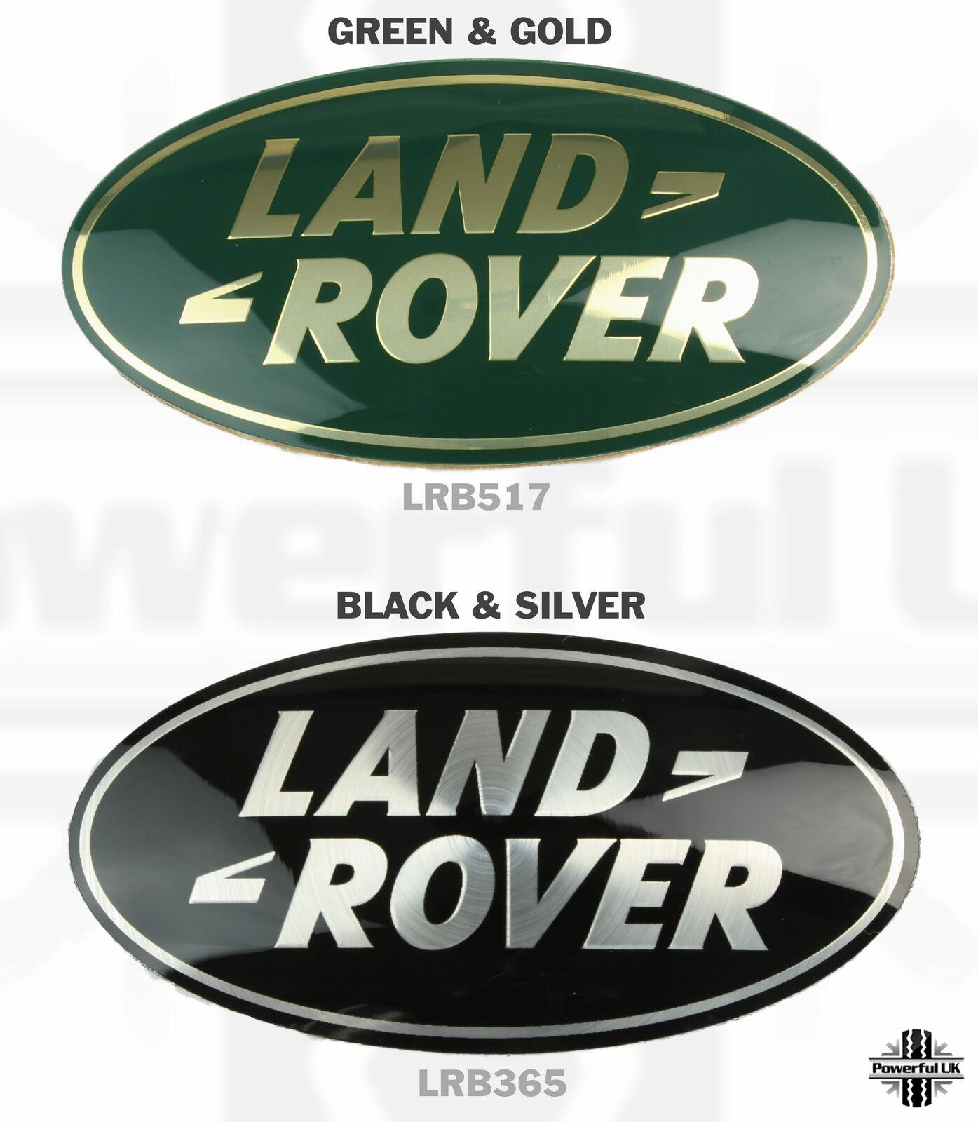 Land Rover Discovery 3 black+silver porte arrière insigne ovale nouveau logo de mise à niveau LR3