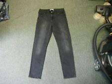 "Todd Lynn Slim Leg Jeans Size 14 Leg 30"" Black Faded Ladies Jeans"