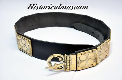 "ROMAN LEGIONNAIRE BELT - Leather and Brass - ARMOR"""""