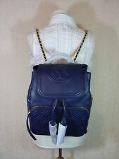 85a7e7b4f09b Tory Burch Fleming Lambskin Leather Backpack Royal Navy