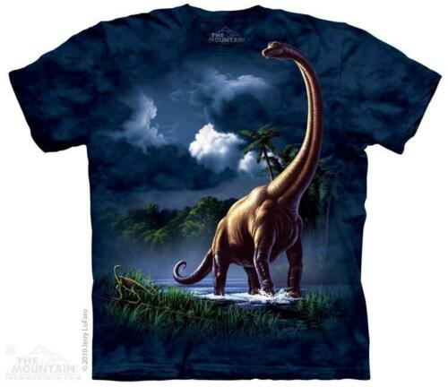 3101 All Sizes Brachiosaurus Dinosaur Walking The Mountain T-Shirt