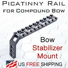 Picatinny Rail for Compound Bow-Stabilizer Mount for Flashlgith Laser Bowhunting