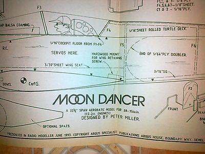 Aeromobile Modello Piano Moon Dancer 32 Pollici Modello Acrobatico Da Miller P-mostra Il Titolo Originale