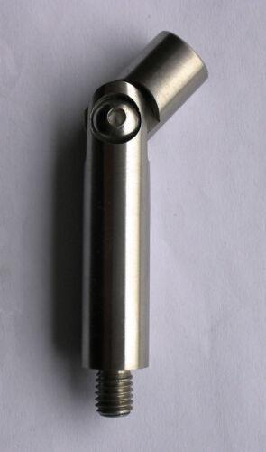 Edelstahl Handlaufstütze Ø 14mm Handlaufträger Handlaufhalter VA Gelenkstift V2A