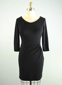 PIAZZA-SEMPIONE-Stretch-Little-Black-Sheath-Dress-Size-46-US-12