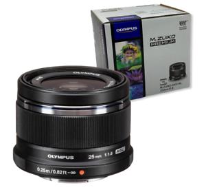 New OLYMPUS M.Zuiko Digital 25mm f/1.8 Lens - BLACK - Micro Four Thirds Mount