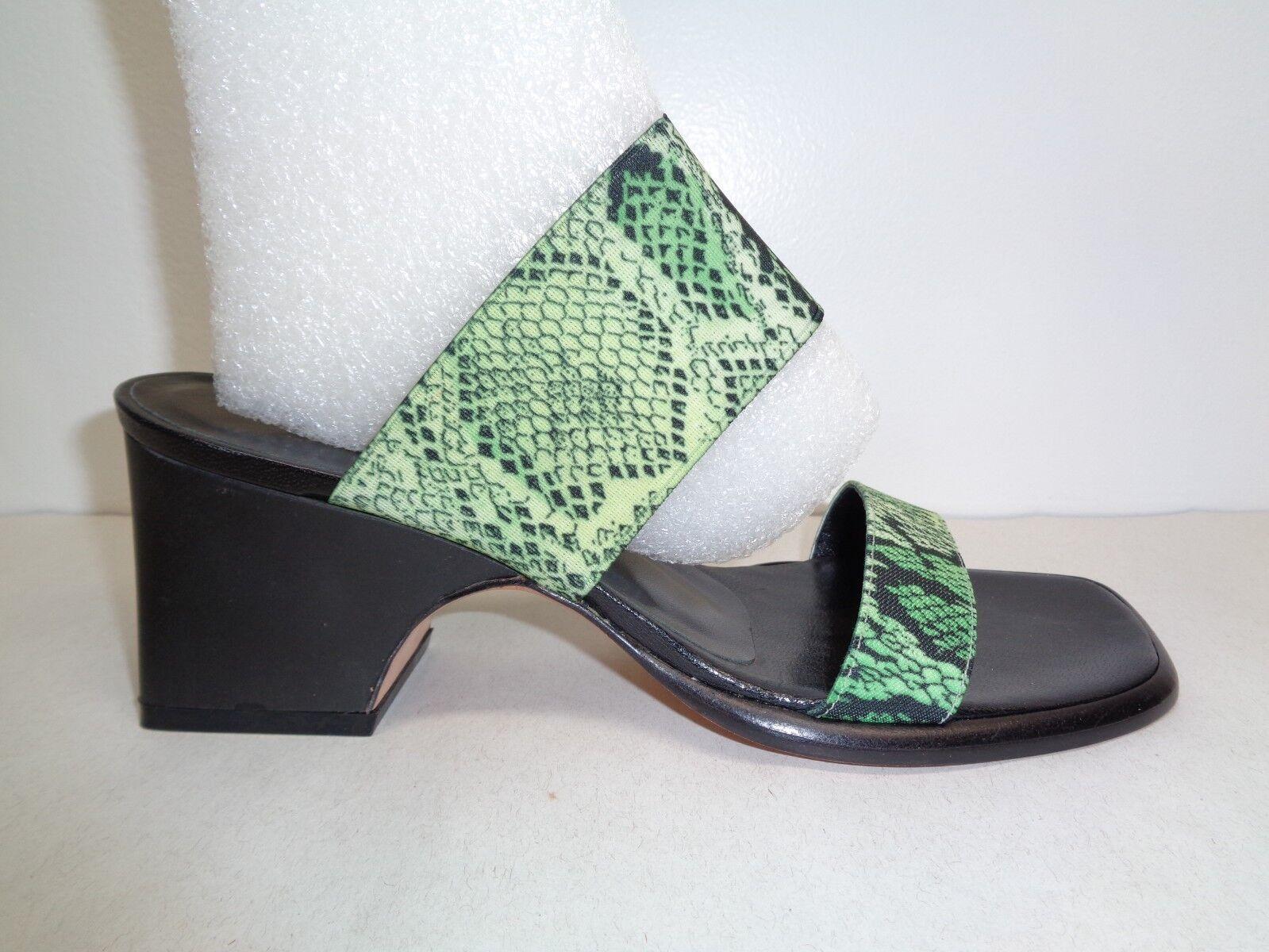 Pancaldi Taille 7 AA étroit P9984 Vert Noir Talons Hauts Sandales Pour Femme Chaussures