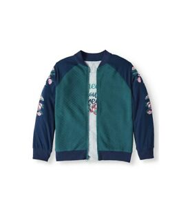 Wonder Nation 2 Piece Bomber Jacket /& SS Tee Shirt Set Girls Size Medium 7//8 M