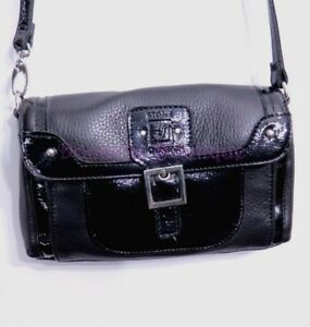Details About Stone Mountain Black Leather Crossbody Bag Item A86396 Nwot