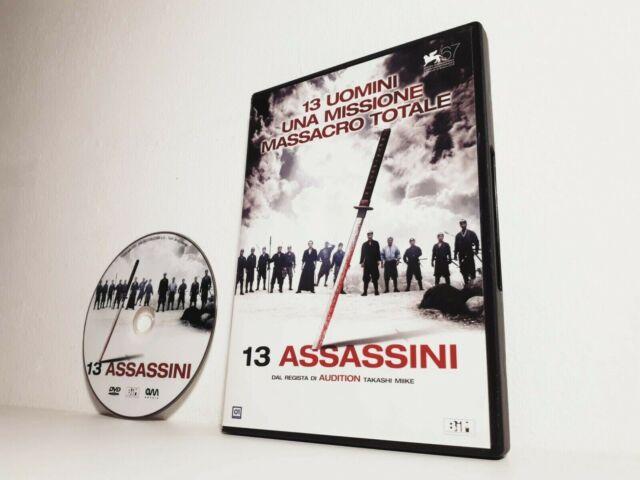 DVD 13 ASSASSINI Kōji Yakusho Takashi Miike Gorō Inagaki Takayuki Yamada (2010)