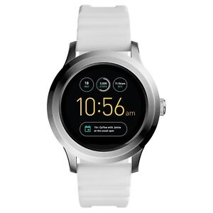 e5f430225cb Fossil Q Founder Gen 2 Touchscreen White Silicone Smartwatch FTW2115 ...