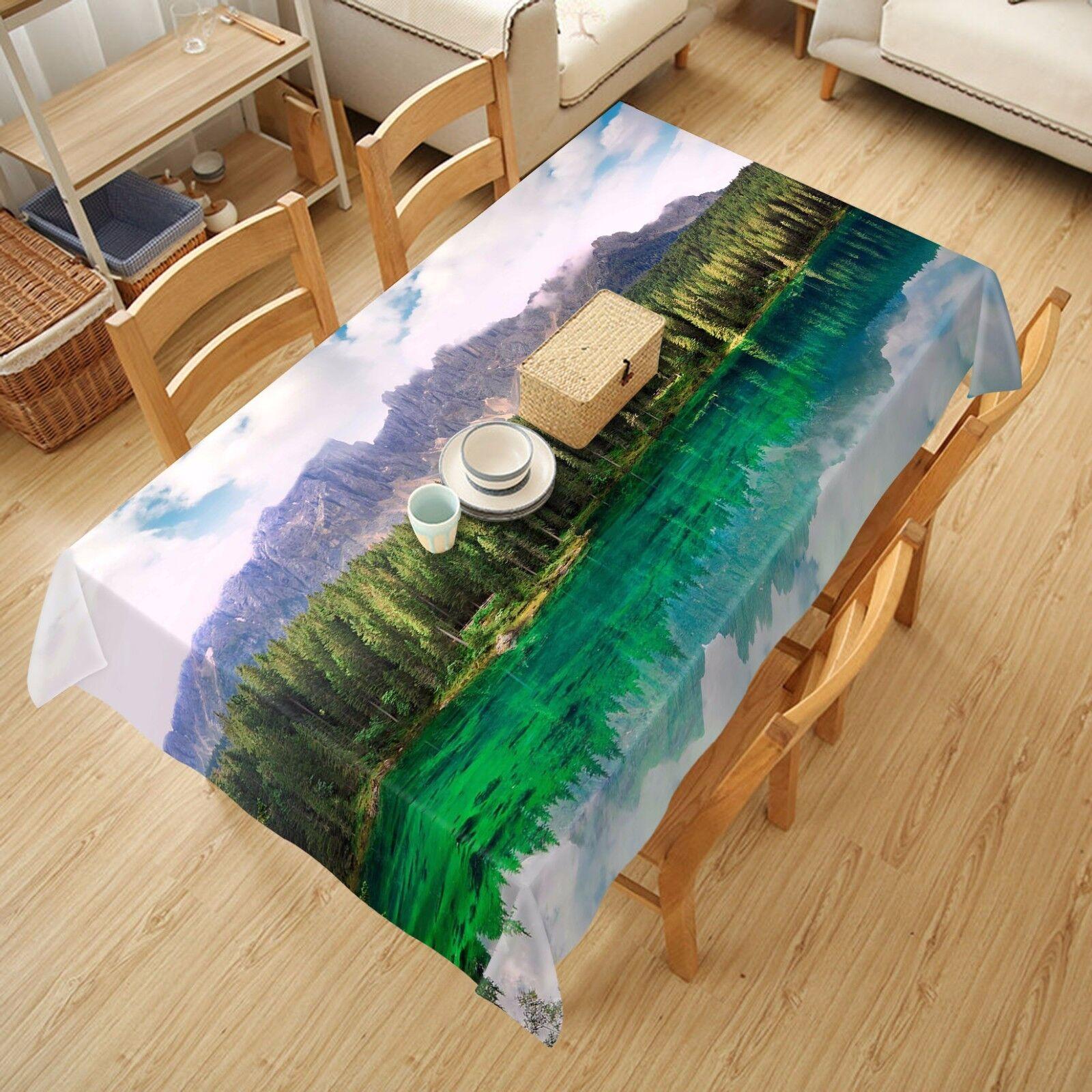 3D Trees Tablecloth Table Cover Cloth Birthday Party AJ WALLPAPER UK Lemon