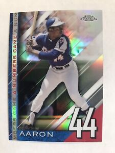 2020 Topps Chrome Hank Aaron A Numbers Game Refractor #NGC-25 Insert Braves