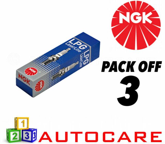 NGK LPG (GAS) Spark Plugs Opel Agila Corsa C Seat Ibiza #1565 3pk