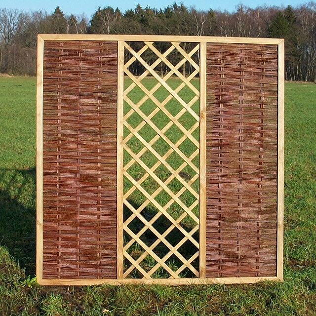 punti vendita Pascoli recinzione flechtzaun 'Pattern' come protezione visiva visiva visiva e Antivento-sichtschutzza  100% autentico