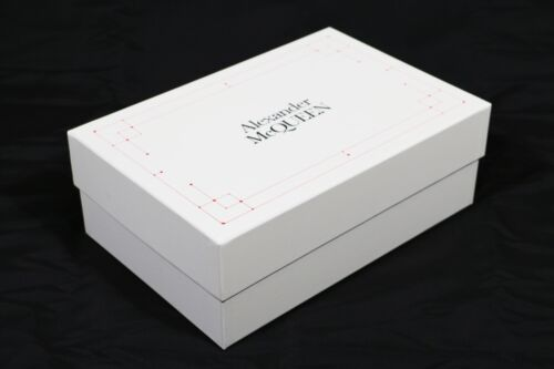 """SHOES BOX /""""ALEXANDER MCQUEEN/"""" ORIGINALE 38x25x14 SCATOLA CONFEZIONE LUSSO"""