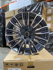 4 New 22 Range Rover Wheels Gun Metal Machined Land Rover Replica