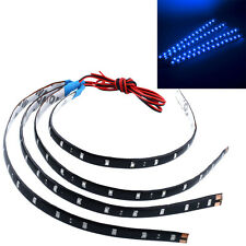 4Pcs Blue 30cm Waterproof LED Strip Light For Car Vehicle Motor Truck 12V Lamp*