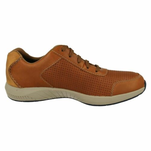 MENS CLARKS LEATHER LACE UP SNEAKER STYLE CASUAL SHOES TRAINERS SIRTIS MIX SIZE
