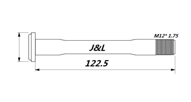 J/&L Thru Axle 100//142* 12mm-20g-for Trek Madone//Emonda//Domane-Front/&Rear Hub